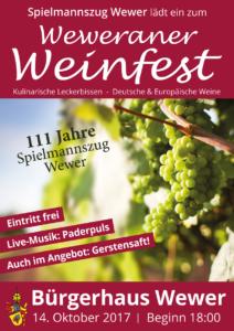 Weinfest Plakat 2017